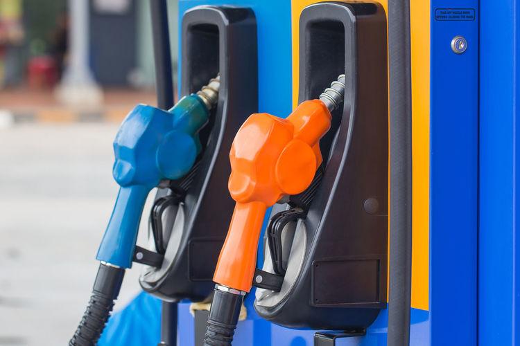 Close-up of fuel pump
