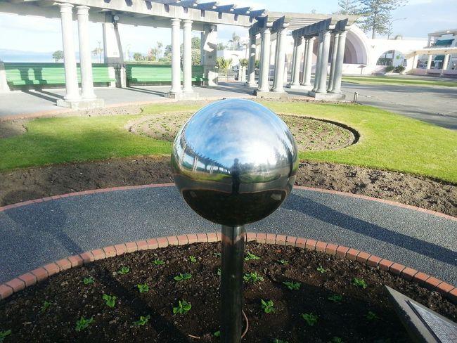 Metal Ball Mirror Outdoor Reflection
