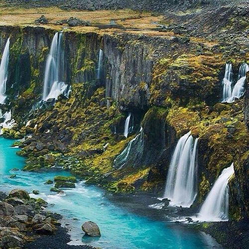 Amazing waterfalls somewhere in the Icelandic highlands. 💙💙💙 Follow My Eye Em 💙 You Follow My Eye Em 💙 I Follow Back Waterfall First Eyeem Photo Famous Place Very Nice 😱😱 Hello World ❤ Picture Icelandic Highlands No Edit Real Picture