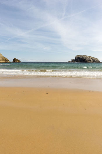 Cantabria Arnia Beach Beauty In Nature Coast Day Horizon Over Water Landscape Nature No People Ocean Outdoors Rock - Object Sand Scenics Sea Sky Tranquil Scene Tranquility Water Wave