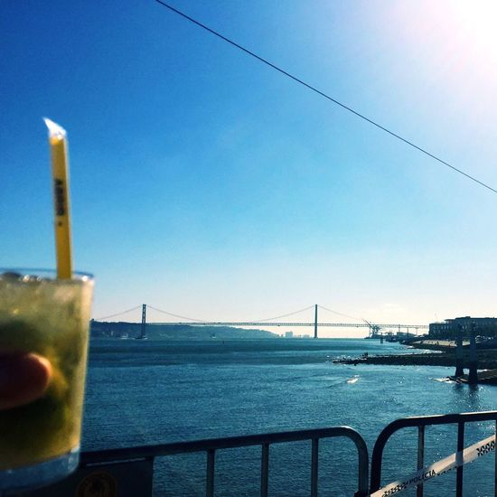 Mojito! Drinks Summertime Party Time Bridge View Lisbon Finding New Frontiers