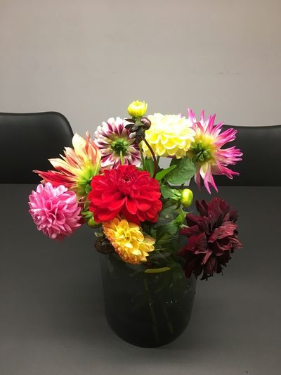 Flower Beauty In Nature Vase No People Indoors  Nature Flower Head Yellow Table Flowers On Table