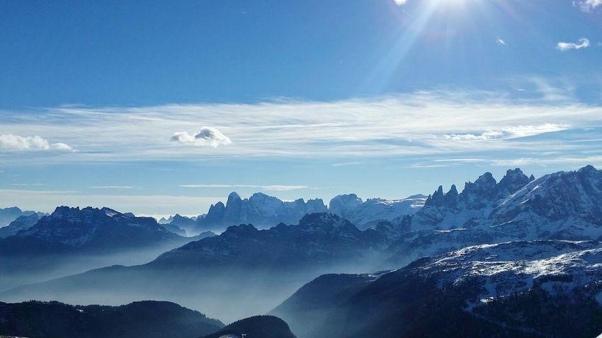 Passosanpellegrino Winter Mountains Snow Skiing Sunset Landscape Blue Outdoors Sun Dolomiti Bellunesi Dolomiti Italy