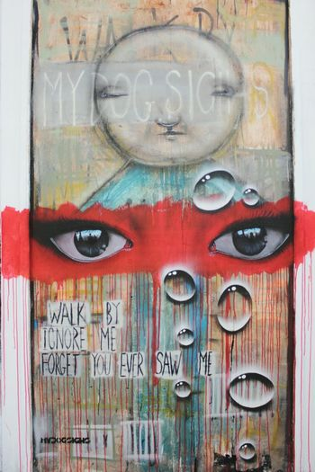 Art Is Everywhere Multi Colored Text Graffiti Travel Eyes Art Streamzoofamily