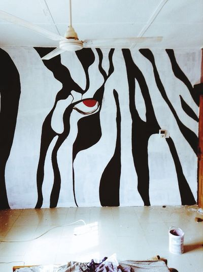 Mural Interior Decor Painting Zebra Wildlife Nature Nature