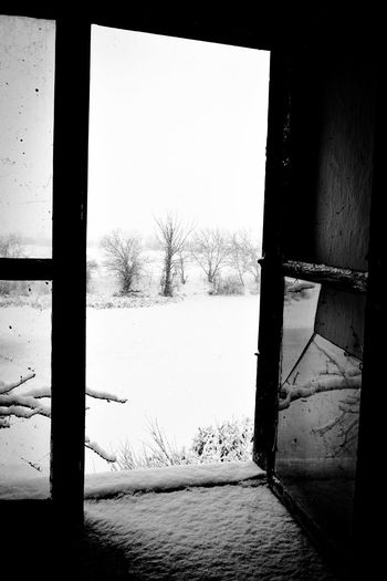 Window Indoors  Frosted Glass No People Day Old House Old Buildings Old Architecture