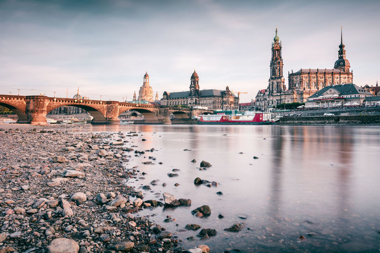 Oldtown Dresden | Dresden, Germany 2016 Altstadt Dresden Architecture Brühlsche Terrasse Building Exterior Built Structure Day Dresden Dresden Travel Elbe River Fine Art Fine Art Photography Long Exposure No People Outdoors River Riverbank Sachsen Sand Sax Sky Summer 2016 Visit Dresden Visit Indonesia Water Waterfront