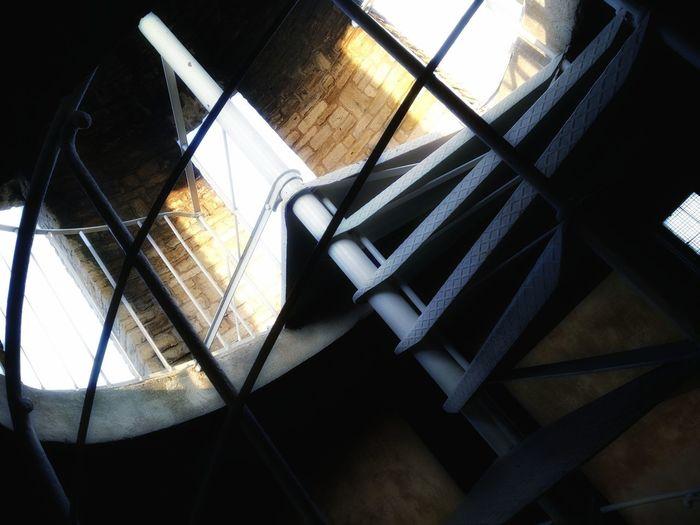 Indoors  No People Shadow Spiral Staircase Close-up Day Huaweiphotography Huawei Huawei Shots Doors Windows Light And Shadow Tower Architecture Bismarck Tower Bismarckturm Rheinhessen Rhineland-palatinate