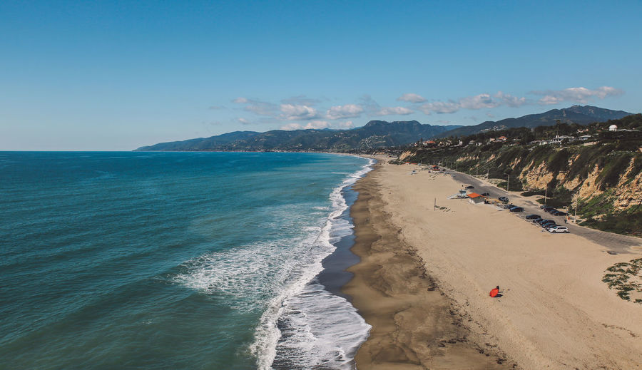 California Malibu Point Dume Tourist Attraction  Aerial View Beach Beauty In Nature Clear Sky Day Horizon Over Water Mountain Nature Outdoors Real People Sand Scenics Sea Sky Tourist Destination Tranquil Scene Tranquility View From Above Water Been There. Been There. California Dreamin