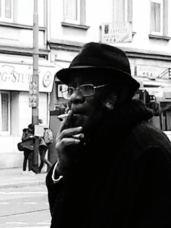 Cool Cat You Dig Fedora  Streetphotography Smoking Hanging Out Porkchop Side Burns Black And White Photography Monochrome Up Close With Street Photography Check This Out From Where I Stand Black And White Collection  Blackandwhitephotography Blackandwhite Photography Up Close Street Photograpy The Street Photography - 2016 EyeEm Awards