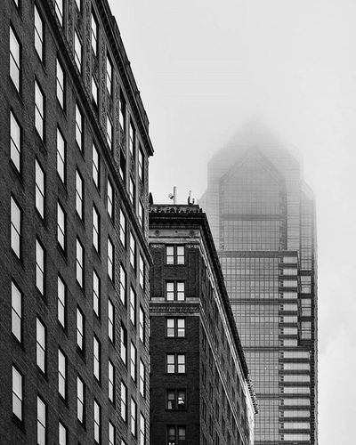 Blurryface Skyscraper Fog Architecture Phillyarchitecture Philadelphia Philly Igers_philly Igers_philly_street Cityholderarchitecture Saveyourself Visitphilly Citylife Liphillyfe Howphillyseesphilly Blackandwhite Bnw_igers Bnw_life Bnw_captures Bnw_society Bnw_planet Bnw_magazine Bnw Bw_philly Bw Rustlord_archdesign rustlord_bnw rsa_architecture rsa_bnw
