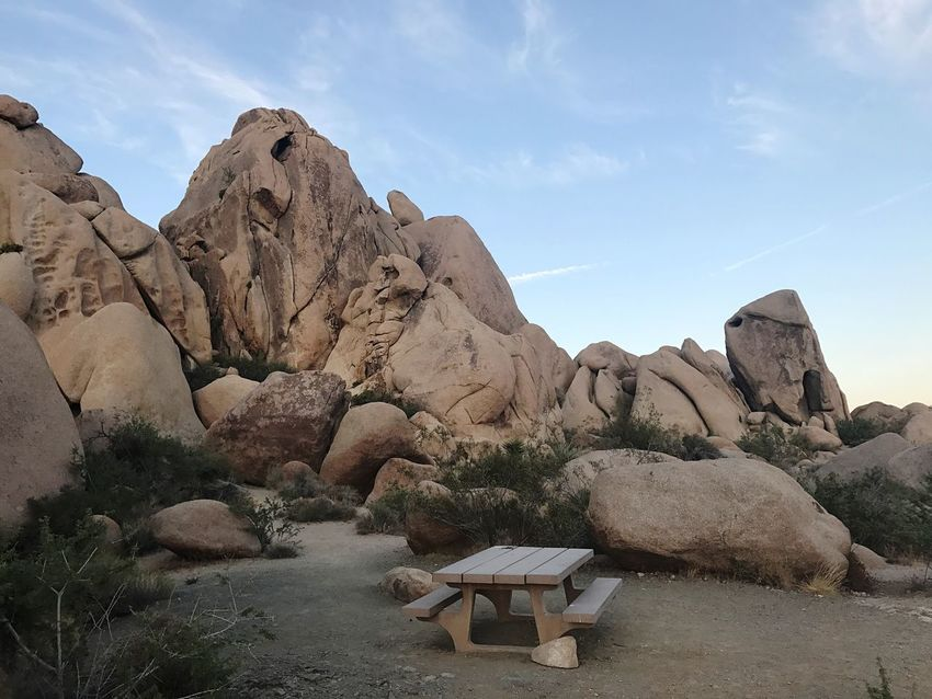 Rock - Object Sky Nature No People Day Beauty In Nature Landscape Outdoors Tranquility Scenics Picnic Table Camping Place Nationalpark Desert Landscape