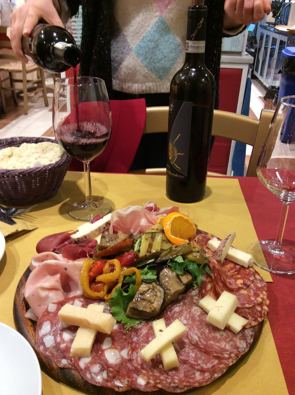 food and drink, food, freshness, serving size, indoors, table, ready-to-eat, refreshment, restaurant, drink, wine, meat, meal, real people, indulgence, wineglass, gourmet, healthy eating, alcohol, close-up, one person, cooked, day