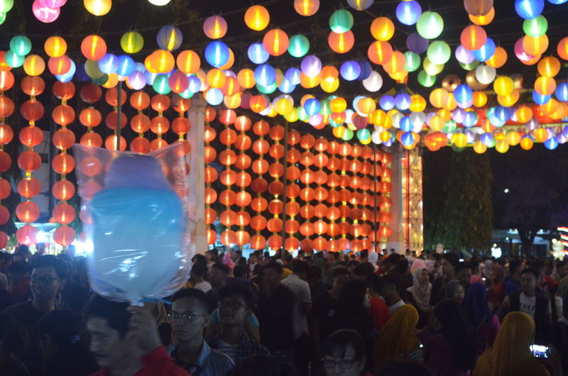 Gong Xi Fa Cai Crowd Group Of People Large Group Of People Real People Illuminated Lighting Equipment Night Men Lifestyles Women Celebration Leisure Activity Adult Decoration Event Enjoyment Arts Culture And Entertainment Festival Light Watching Music Festival Stage
