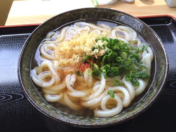 Enjoying A Meal うどん