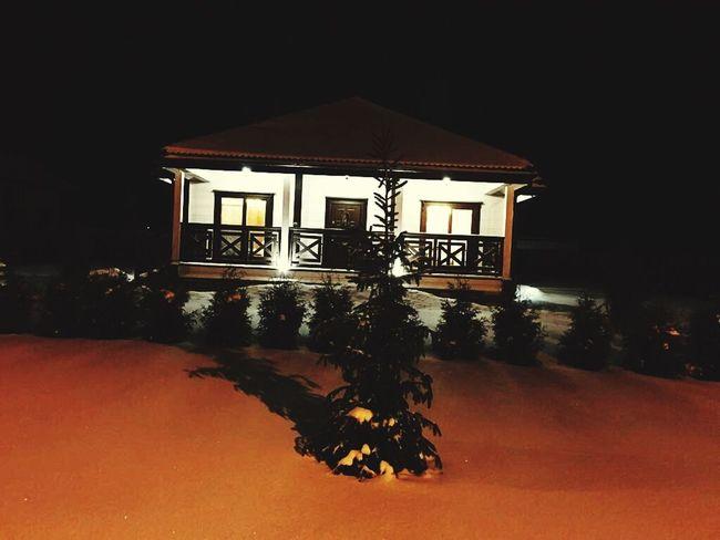 Ночь перед Рождеством ель дом рождество Night Ночь First Eyeem Photo EyeEmNewHere
