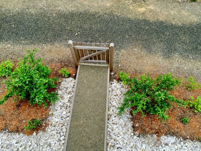 Day Fence Gate Green Green Color Growth High Angle View Nature No People Outdoors Plant