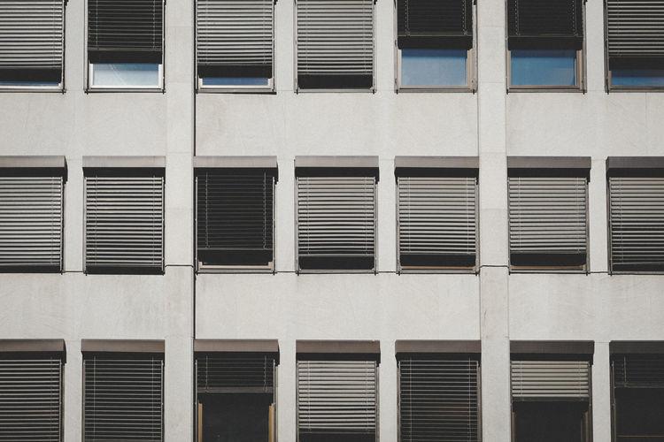 Full frame shot of windows in building