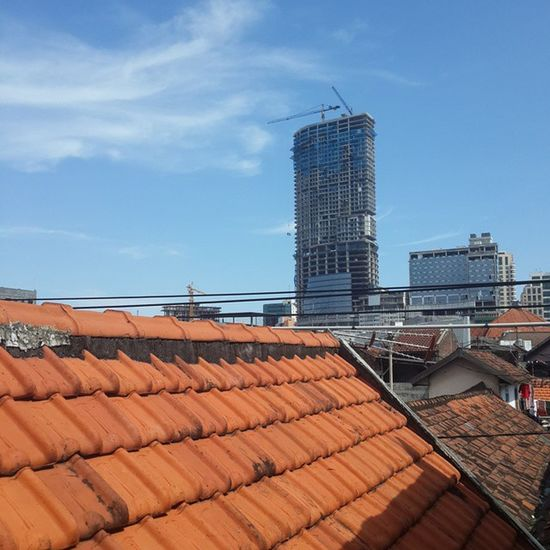 The view from my house's roof. View Building Gedung Architecture city roof atap skyscraper pencakarlangit bluesky clearday s4