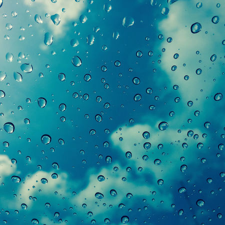 Background Backgrounds Blue Blue Sky Close-up Day Drop Drop Of Rain Drop Of Water Drops Full Frame Glass No People Rain Raindrops Water Waterdrops