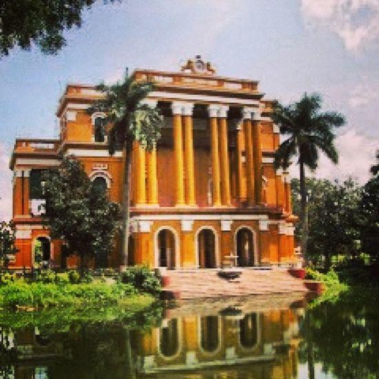 Murahidabad Old Building Heritage Pond Trees Orange Blue Instagram InstaFrame WestBengal