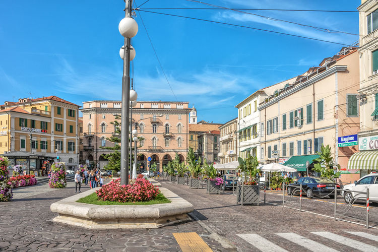 Architecture City City Life Mediterranean  Square Architecture Blue Building Building Exterior Built Structure City Cloud - Sky Colorful Day Flower Flower Head Italy Outdoor Outdoor Photography Outdoors Sky Street Street Photography Streetphotography