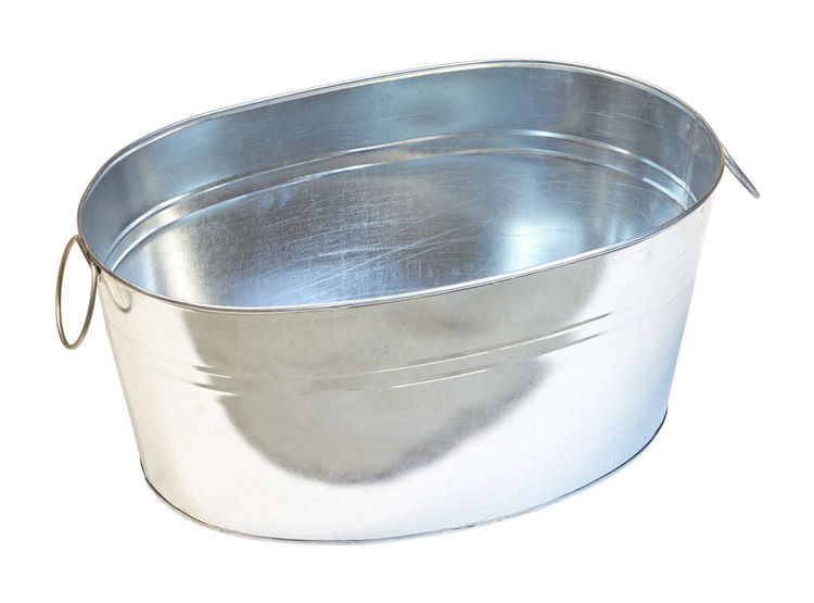 zinc tub Tub Aluminum Close-up Container Copy Space Cut Out Empty Food And Drink Household Equipment Indoors  Lid Metal No People Saucepan Shape Silver - Metal Silver Colored Single Object Stainless Steel  Steel Still Life Studio Shot White Background Zinc Zinc Tub