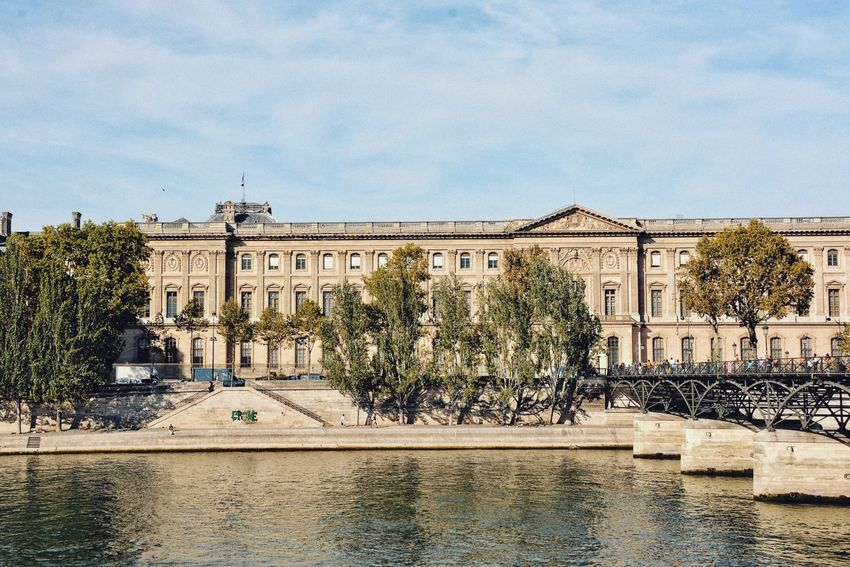 Paris on a summer day. Water River Historical Building Buildings Cityscape Urban Geometry Geometry Architecture Built Structure Building Exterior Sky Tree Plant Nature Building City History Sunlight Travel Destinations