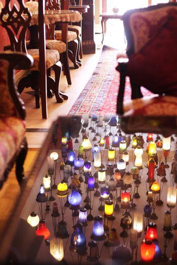 2015  Cafe Colorful Interior Interior Design Istanbul Kybele Hotel Lamp Lamp Hotel Restaurant Table Turkey Türkiye イスタンブール キベルホテル トルコ ランプ ランプのホテル Mirror Sun