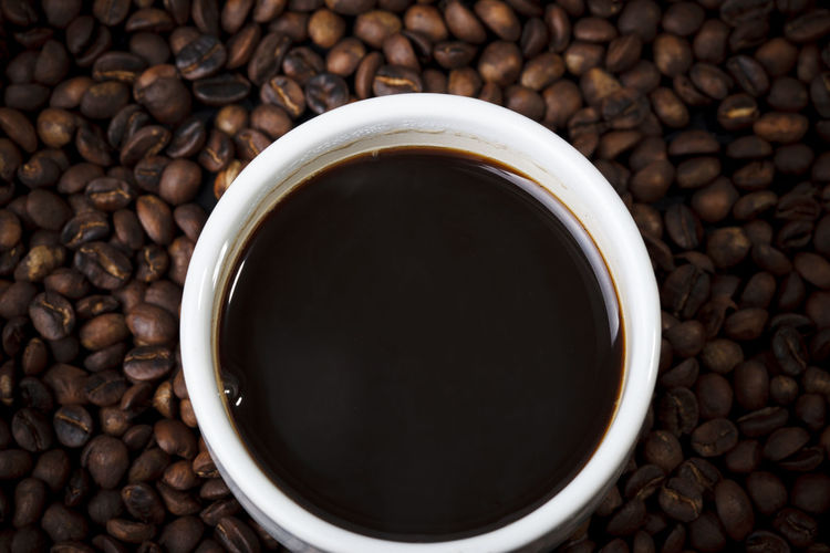Directly above shot of coffee cup