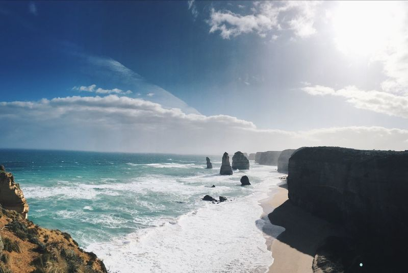 Sea Sky Nature Horizon Over Water Beauty In Nature Rock - Object Tranquil Scene Scenics Cloud - Sky Outdoors EyeEm Nature Lover 12 Apostles Wave Neighborhood Map The Great Outdoors - 2017 EyeEm Awards Sommergefühle