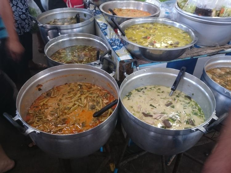 High Angle View Food Market Stall Indoors  Day No People Thai Street Food