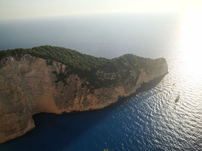Water Scenics - Nature Sea Tranquil Scene Tranquility Beauty In Nature No People Rock Nature Rock - Object High Angle View Solid Land Idyllic Sky Day Cliff Outdoors Remote Rocky Coastline Femalephotographerofthemonth 43GoldenMoments Popular Photos Taking Photos Zante