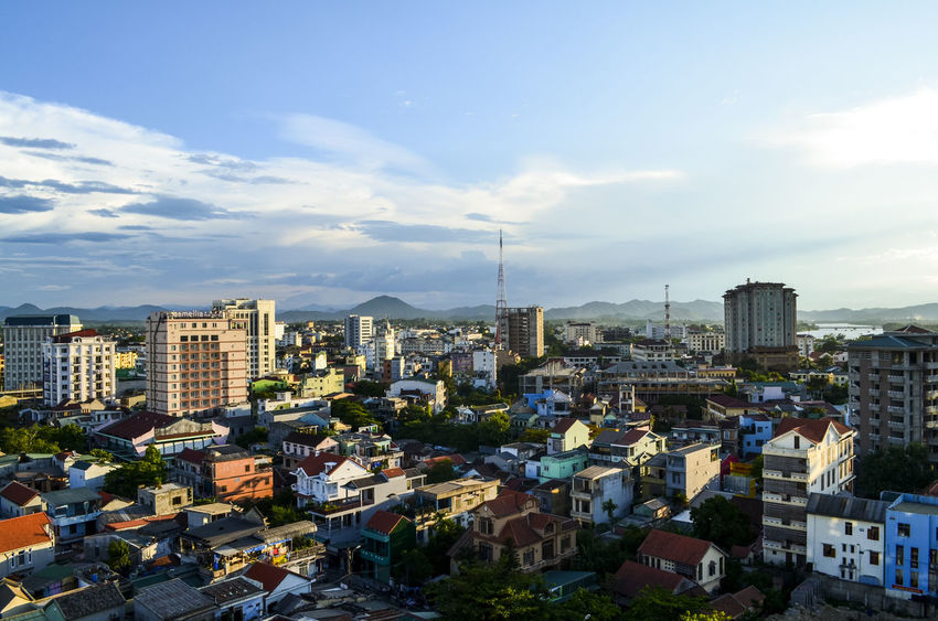Hue city Architecture Beauty In Nature Building Exterior Built Structure City City Cityscape Crowed Day Famous Place History Place Huế King KINGDOM Mountain Range No People Old Capital Outdoors Sky Travel Destinations Urban Urban Skyline