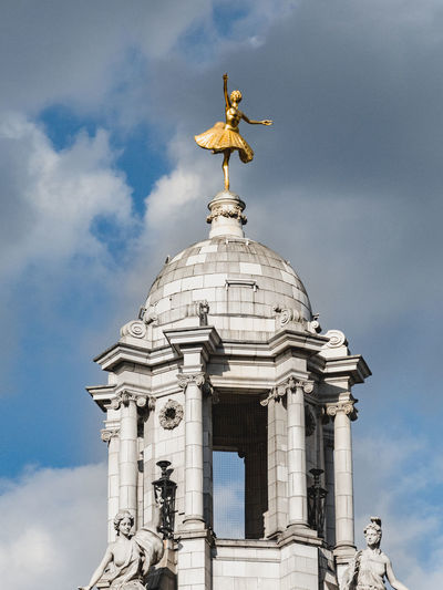 London Architecture Cloud - Sky Day Dome Gold Colored Human Representation Outdoors Sculpture Sky Statue