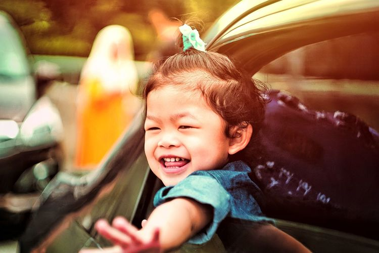 Portrait of happy boy smiling