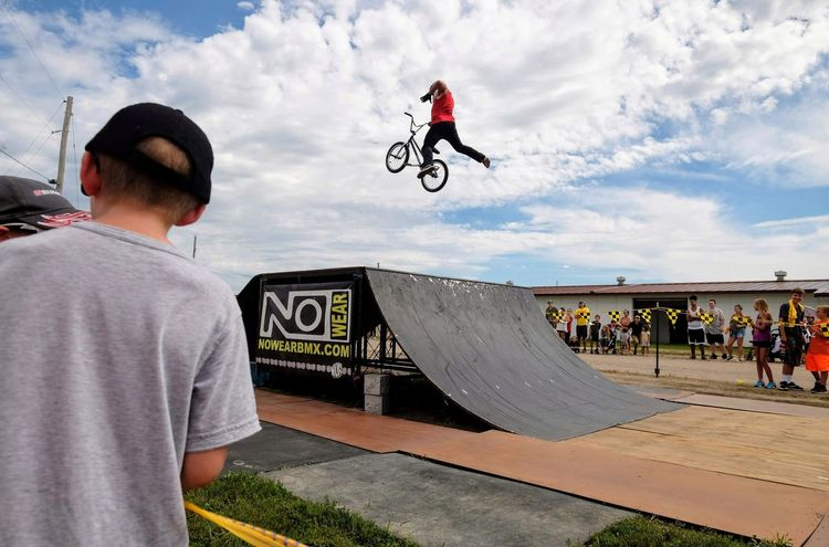 Nowear BMX Team Nebraska State Fair September 1, 2018 Grand Island, Nebraska Camera Work Check This Out Event EyeEm Best Shots FUJIFILM X-T1 Fujinon 10-24mm F4 Getty Images Grand Island, Nebraska Nebraska State Fair NowearBMX Photo Essay Photojournalism RISK Skill  Stunt Action Action Shot  Bicycle Bmx  Casual Clothing Cloud - Sky Day Extreme Sports Freestyle Leisure Activity Lifestyles Men Mid-air Motion Outdoors People Ramp Real People Riding RISK S.ramos September 2018 Skateboard Park Skill  Sky Spectator Sport Sports Ramp Stunt