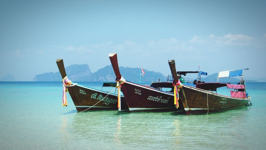 Boat Trip Enjoying Life Thailand Holiday Lifestyle Photography Sea And Sky Background Cill Out! Skyblue Lifestylethailand