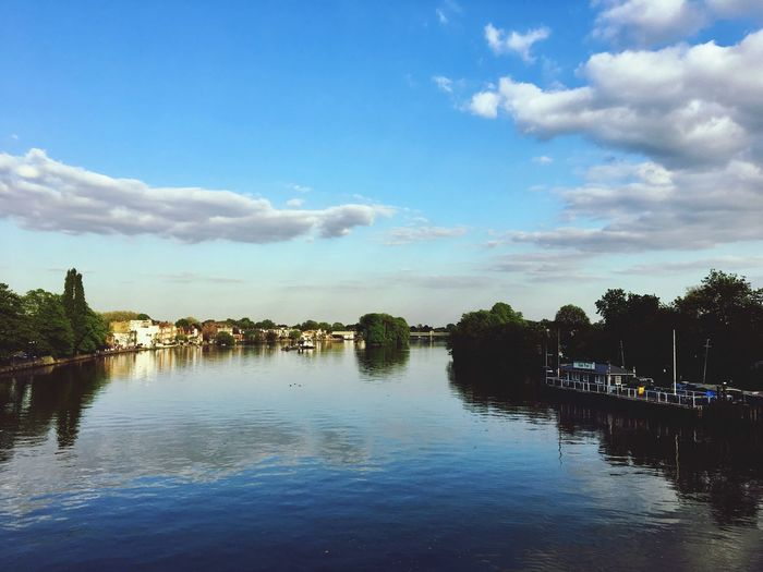 Friday night on Kew Bridge Blue Sky River Thames Water Cloud - Sky Sky Reflection Tree Nature Waterfront No People Tranquility Beauty In Nature Architecture Day