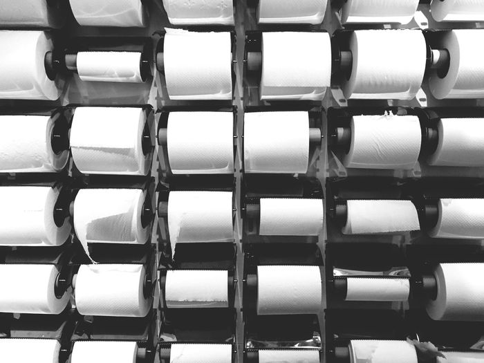 EyeEm Selects Toilet Art Toilet Paper Industry Backgrounds Indoors  No People Close-up Toilet Bathroom Supplies Supply Surreal Minimalism Repetitive Repetition Multitude In A Row