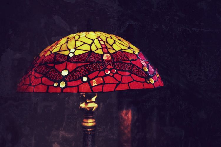 Tiffany Lamp lamp shade Illuminated Lighting Equipment Pattern No People Night Electricity  Old-fashioned Nature Outdoors Close-up EyeEm Best Shots colorful