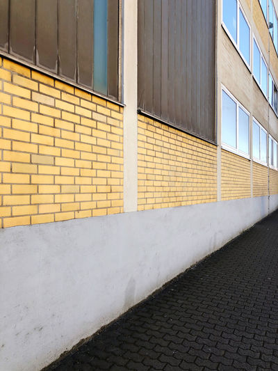 Footpath by building