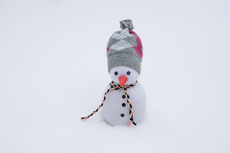 snowman made from socks Arts And Crafts Handicraft Handmade No People Schneemann Snow Snow Man Snowman Socks Winter