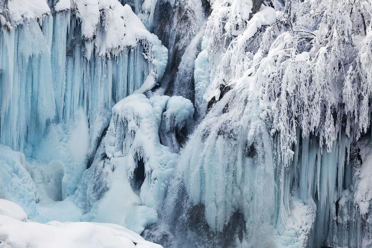 Panoramic shot of frozen landscape