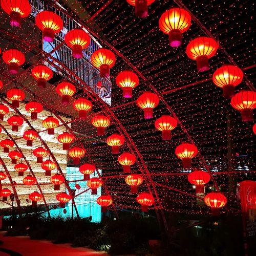 Night Illuminated Night Lights Redlamps Lighttunnel Bkk Thailand City Lonely