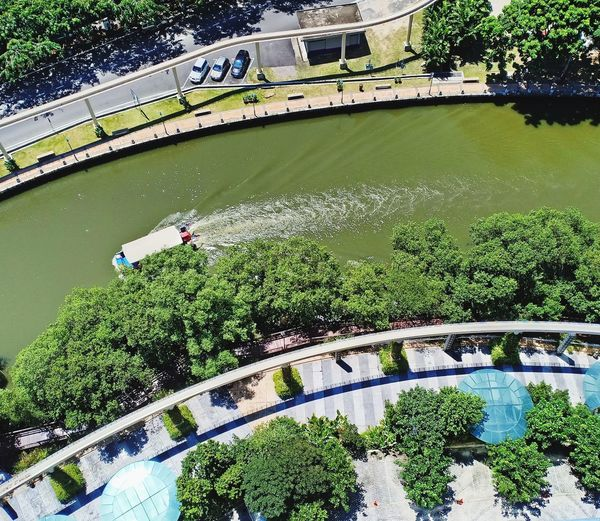 from the 16th floor - The Shore, Melaka (Oct, 2018) Tree Water High Angle View Plant Green Color A New Beginning