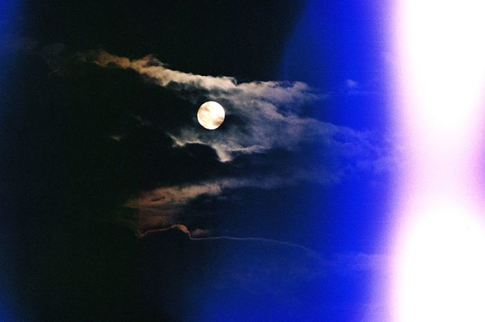 Showing Imperfection Moon Sky Night Lensglare Lens Flare Clouds Black