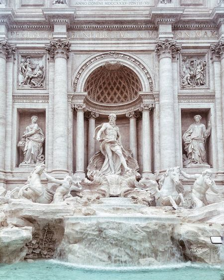 Sculptures At Trevi Fountain