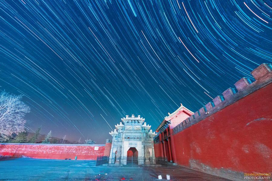 夜空下的关帝庙