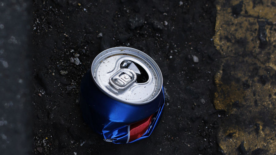 Aluminum Asphalt Street Bent Black Black Background Can Close-up Dented Drink High Angle View Still Life Streetart Streetlife Streetphotography